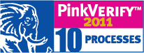 PinkVerify logo